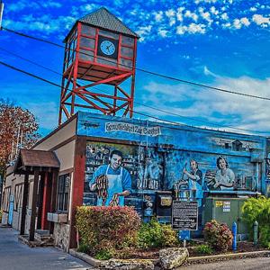 Wall mural in New Braunfels, Texas